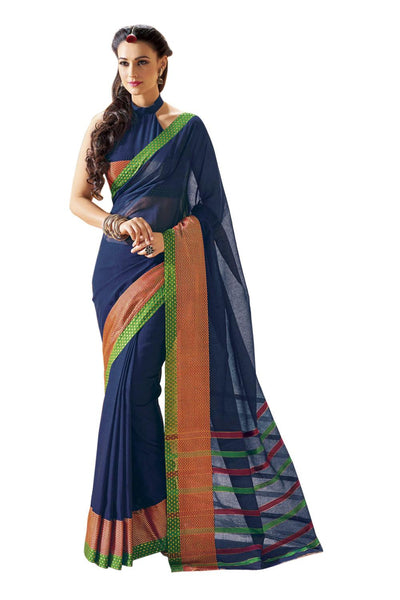 Aura Designer saree  Blue Cotton,AuBluebell