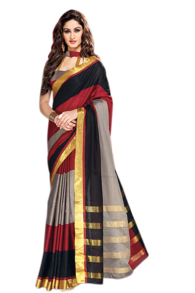 Aura Designer saree  Multicolor Cotton,AuDelsey
