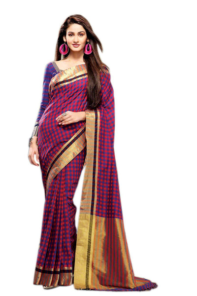 Aura Designer saree  Multicolor Cotton,AuSamantha