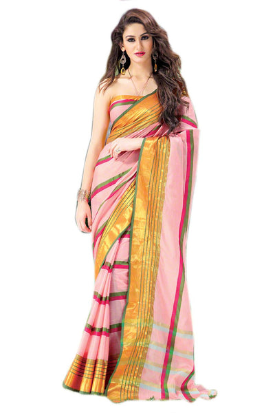 Aura Designer saree  Multicolor Cotton,AuSamina