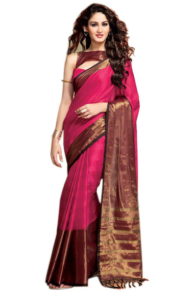 Aura Designer saree  Red Cotton,AuSana