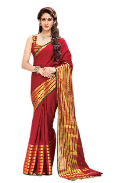Aura Designer saree  Red Cotton,AuSydny