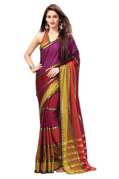 Aura Designer saree  Multicolor Cotton,AuVelvet