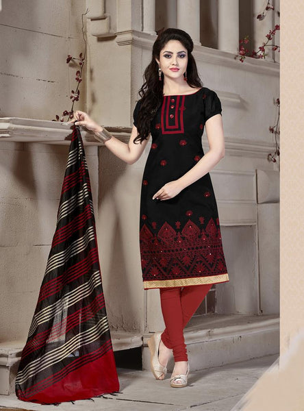 Tanishq Multicolor Chanderi Unstitched dress material,KVCTN47005