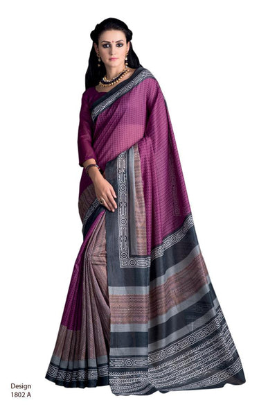 Yuvanika Purple Hyderabadi Silk Designer saree,MIS1802 A_2