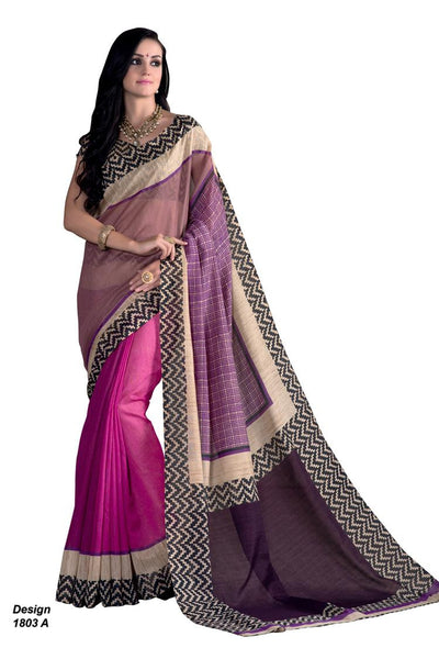 Yuvanika Purple Hyderabadi Silk Designer saree,MIS1803 A
