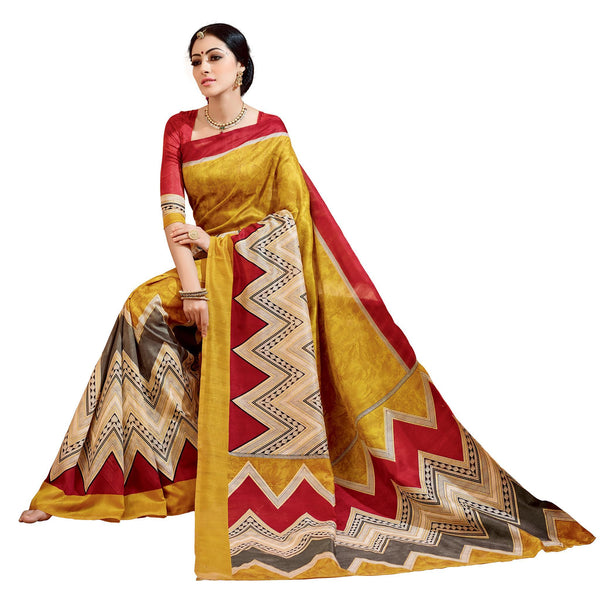 Mastared Art Silk Printed Work Saree VipHyp21448