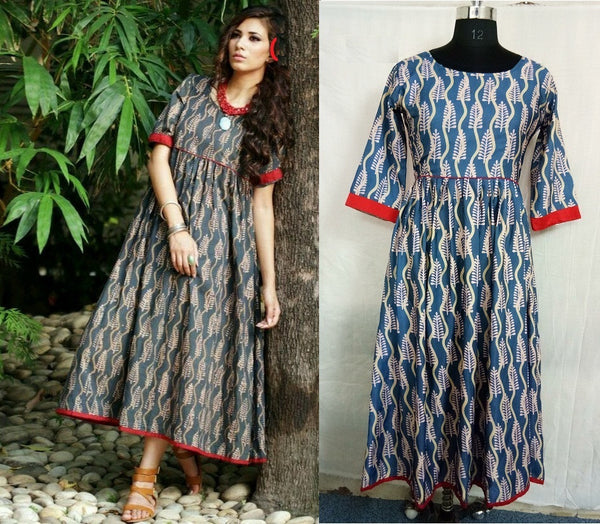FG Cotton Mix Anarkali Kurti,FGLRCD2021