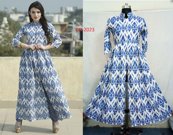 FG Cotton Mix Anarkali Kurti,FGLRCD2023