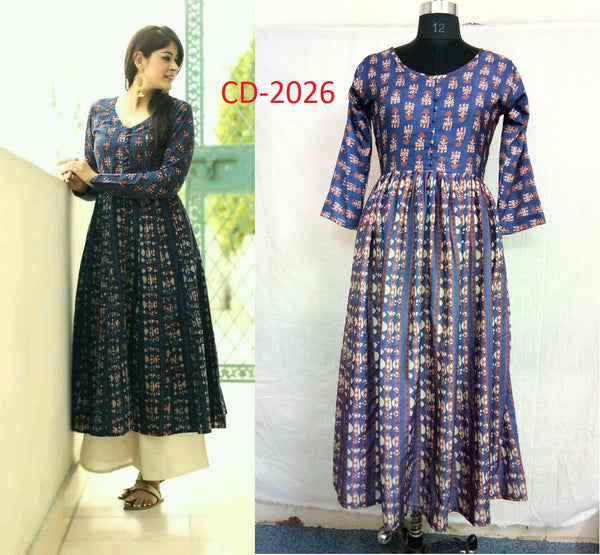 FG Cotton Mix Anarkali Kurti,FGLRCD2026