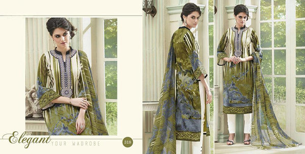 Flower Valley Multicolor Cotton Designer Salwar Kameez,FVL318