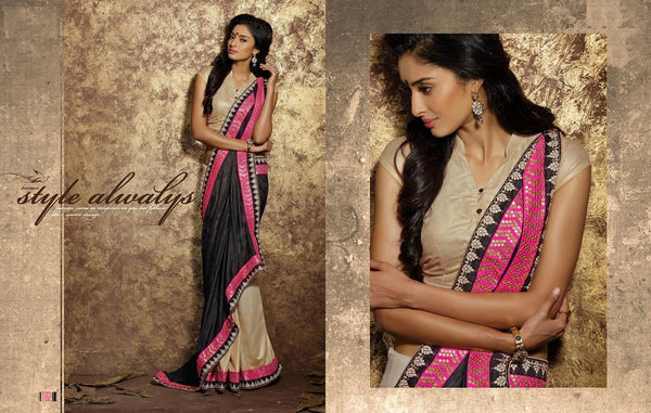 AAKRUTI VOLUME 1 Multicolor  Viscose Designer Worked Saree,LAKT102