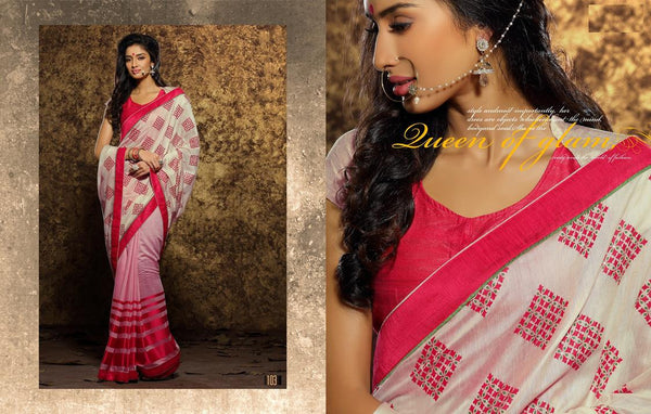 AAKRUTI VOLUME 1 Multicolor  Viscose Designer Worked Saree,LAKT103