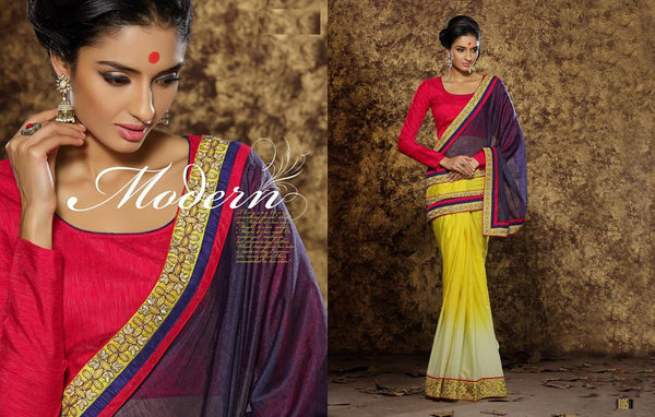 AAKRUTI VOLUME 1 Multicolor  Viscose Designer Worked Saree,LAKT105