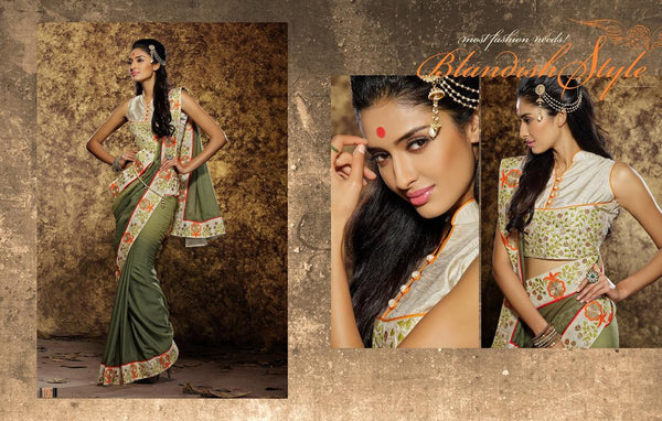 AAKRUTI VOLUME 1 Multicolor  Viscose Designer Worked Saree,LAKT106