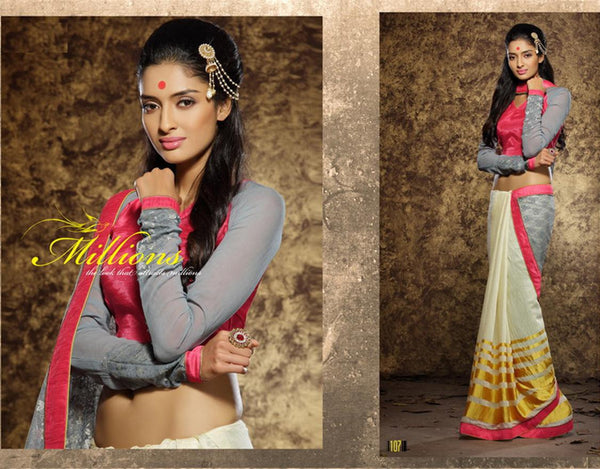 AAKRUTI VOLUME 1 Multicolor  Viscose Designer Worked Saree,LAKT107