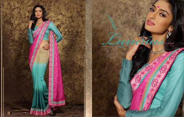 AAKRUTI VOLUME 1 Multicolor  Viscose Designer Worked Saree,LAKT109