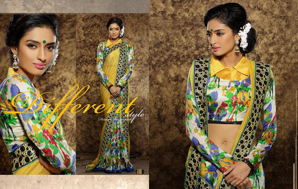 AAKRUTI VOLUME 1 Multicolor  Viscose Designer Worked Saree,LAKT110