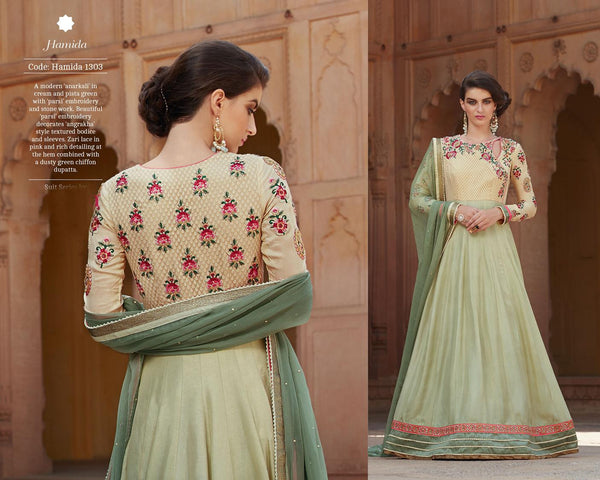 Modern Princess Brown Silk Georgette Designer Gown,MDP1303