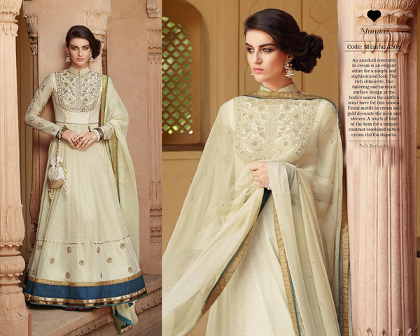 Modern Princess Brown Tussar Silk Designer Gown,MDP1306