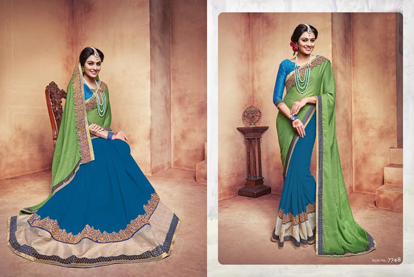 Celebration Multicolor  Georgette Designer Worked Saree,SCLB7748