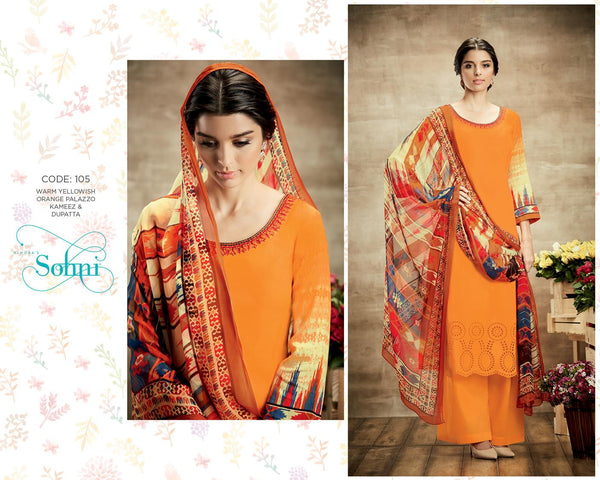 Sohni Yellow Pure Soft Cotton Designer Salwar Kameez,SNI105