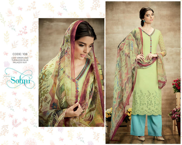 Sohni Green Pure Soft Cotton Designer Salwar Kameez,SNI108