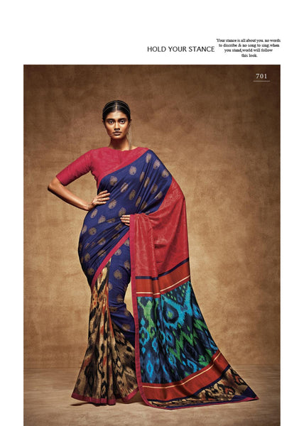 "THE ""VINTAGE"" COLLEC Multicolor Tussar Silk HEAVY DIGITAL PRINT Saree,TVC701"