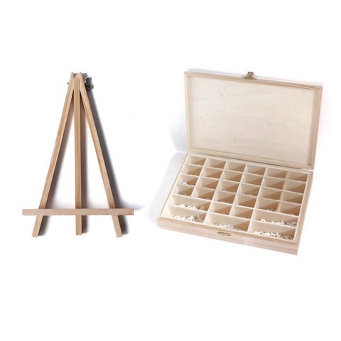 Large easel and organizer box bundle
