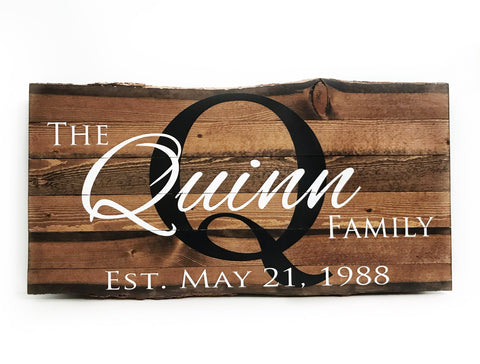 The Quinn Family Sign {customizable}