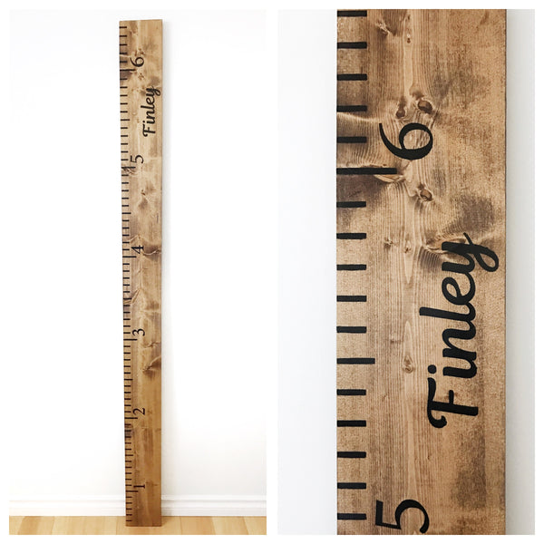 Wooden Growth Ruler {customizable // local pick-up only}
