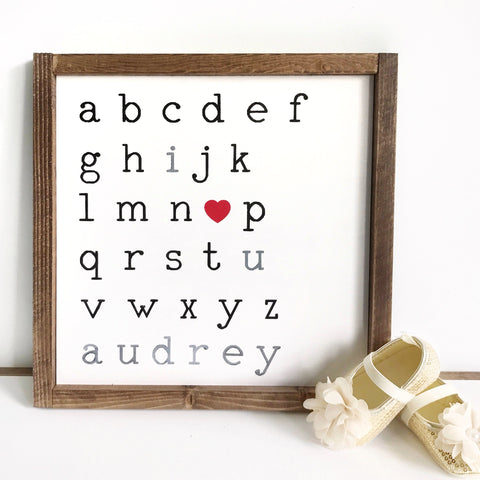 ABC I Love You Sign {customizable}