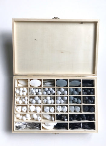 DIY Silicone Bead Kit - Monochrome