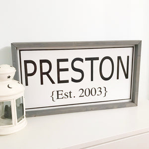 Modern Family Name Sign {customizable}