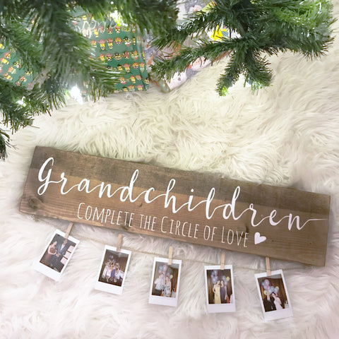 Grandchildren Photo Display Sign