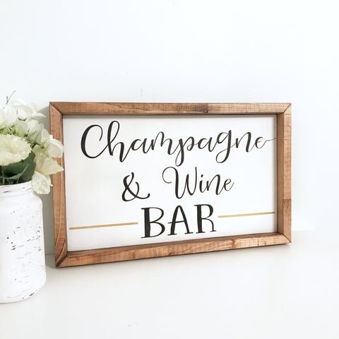 Champagne & Wine Bar Sign