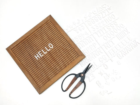 10x10 Walnut Letterboard with Letter Set