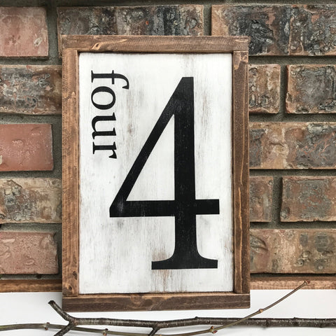 Family Number {customizable sign}