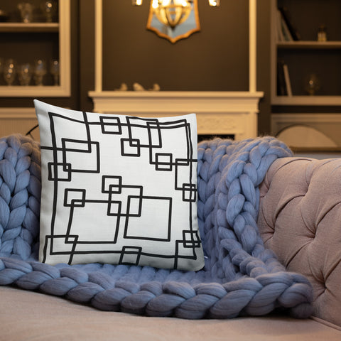 How many squares puzzle Premium Pillow