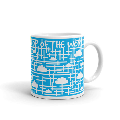 17A008PMUG - Down to earth top of the world puzzle mug