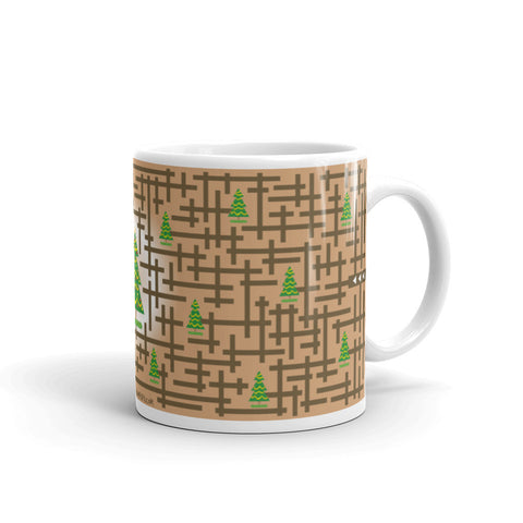 Finding christmas tree puzzle mug