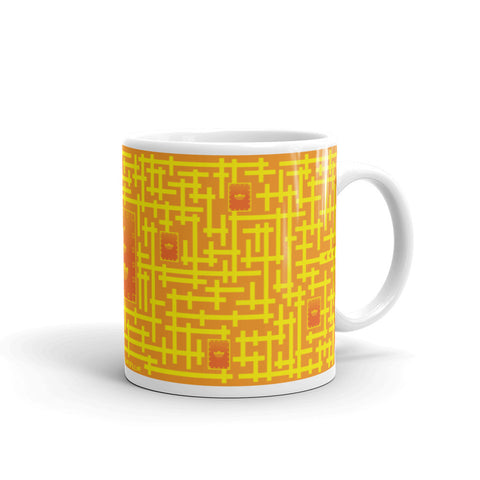 Finding red packet puzzle mug
