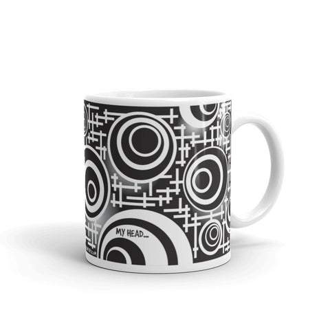 My head is spinning puzzle mug