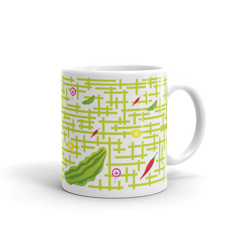 17A024PMUG - Sour sweet bitter spicy puzzle mug