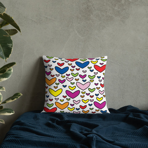 99 Hearts Spot the difference puzzle Premium Pillow
