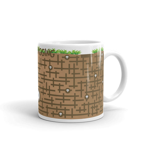 Keep digging puzzle mug