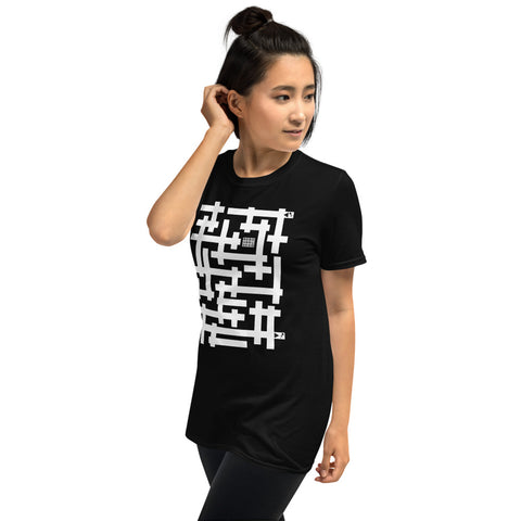 Running Man Short-Sleeve Unisex Puzzle T-Shirt by Love from Papa