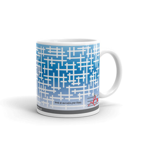 17A039PMUG - Catch your flight puzzle mug
