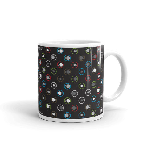 17A033PMUG - All eyes on you couple puzzle mug (black)