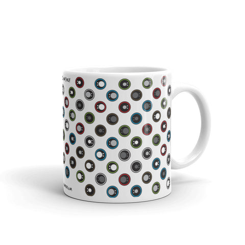 17A032PMUG - All eyes on you white puzzle mug